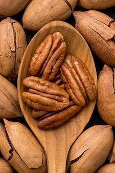 Расположение концепции орехов крупным планом
