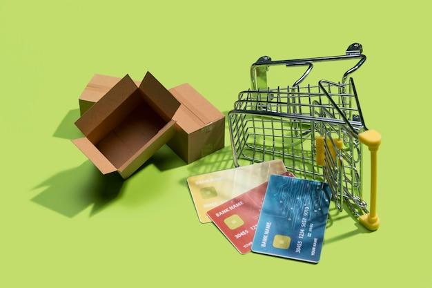 온라인 쇼핑 개념의 근접 촬영보기