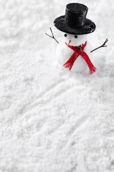 雪だるま冬コンセプトの拡大図