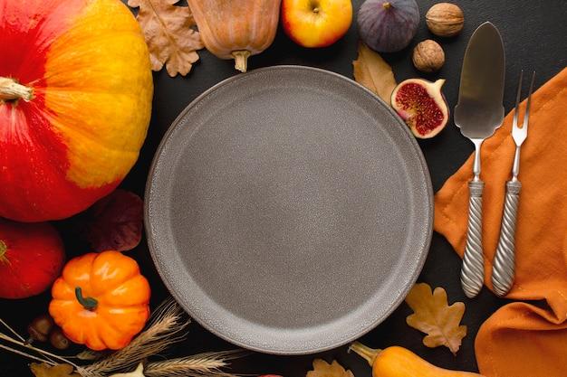 Крупным планом вид концепции еды благодарения