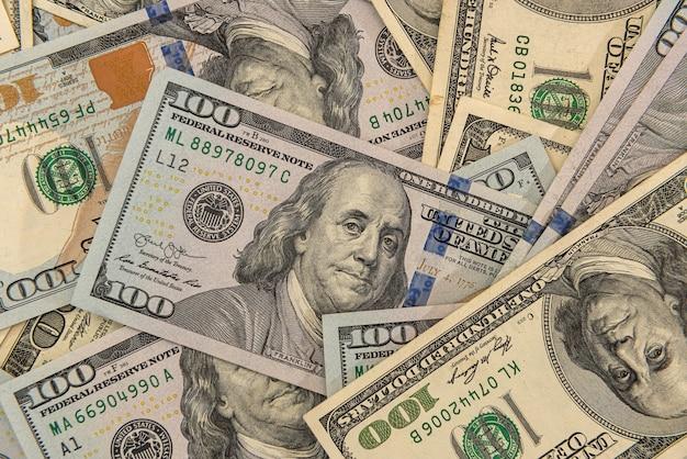 私たちのお金の紙幣のクローズアップビュー