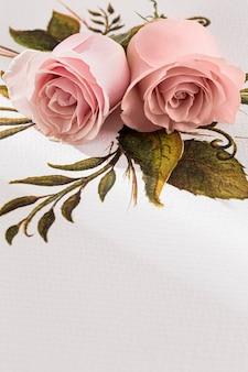 Крупным планом вид валентинки; концепция дня с розами