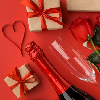 심장 개념 발렌타인의 클로즈업보기