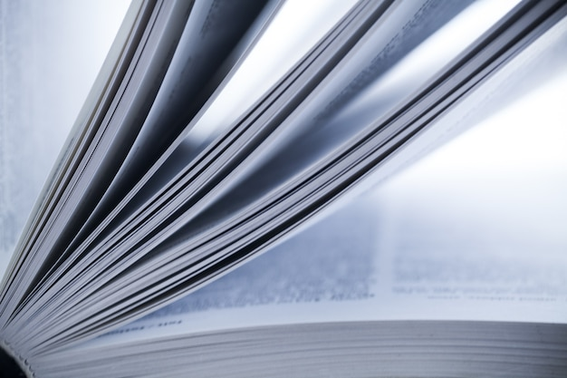 Close up view of open book