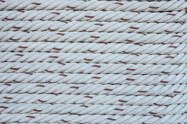 Close up view of ropes pattern.