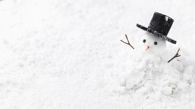 Close-up view of snowman concept