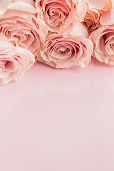 Close-up view of valentine;s day concept with roses