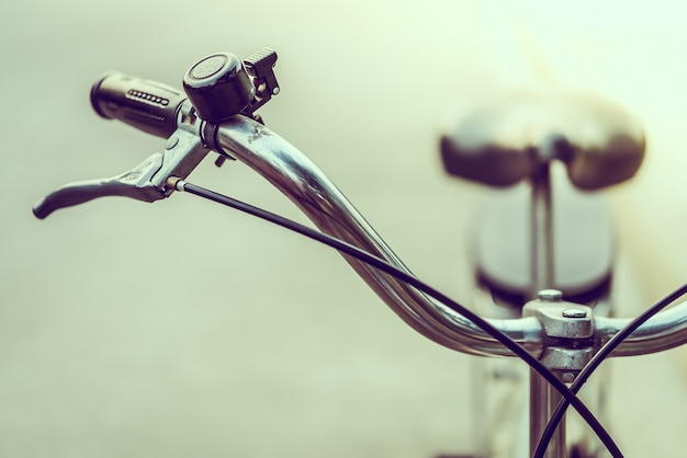 Close-up vintage bicycle with bell