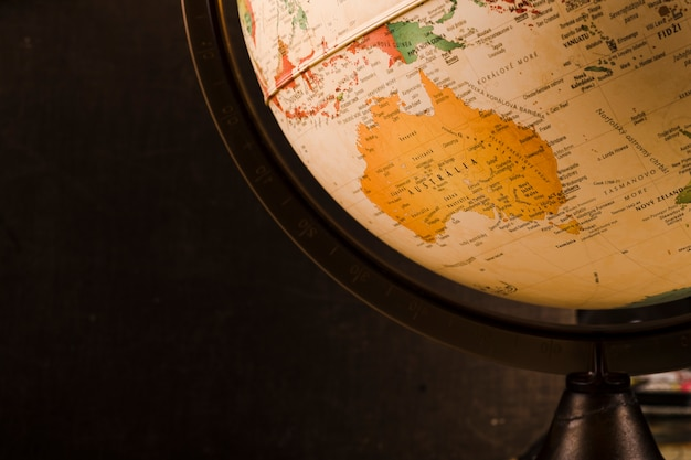 Close-up of a vintage old globe