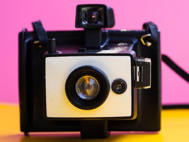 Close-up of a vintage photo camera