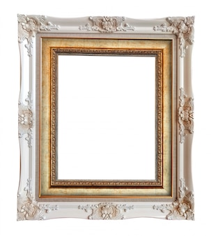 Close up vintage picture frame
