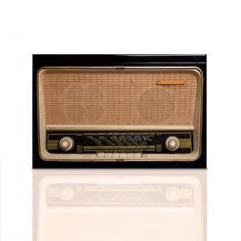Close-up of vintage radio