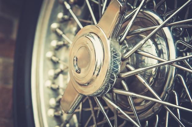 Close up of vintage wheel