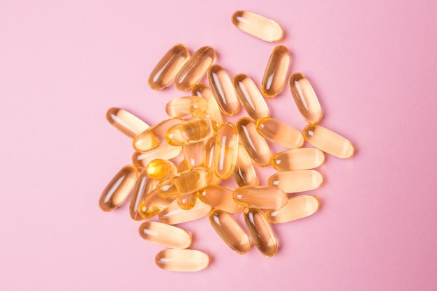 Close up vitamin c capsules