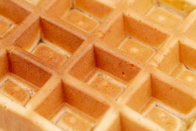 Close-up of waffle pattern