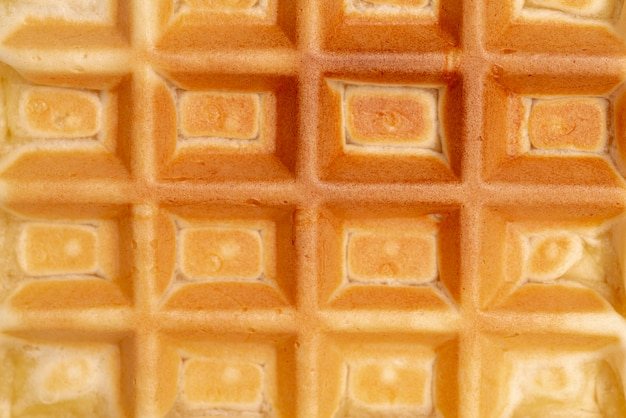 Close-up of waffle texture