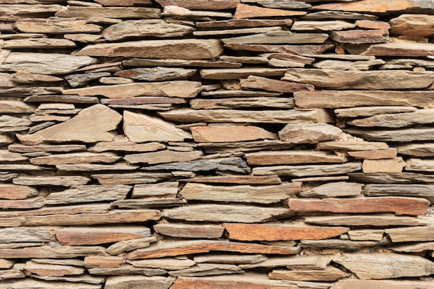 Close up on wall made of stones