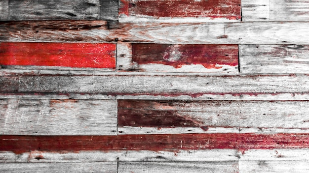 Close up of wall made of vintage wooden planks