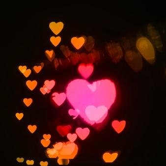 Close-up warm hearts