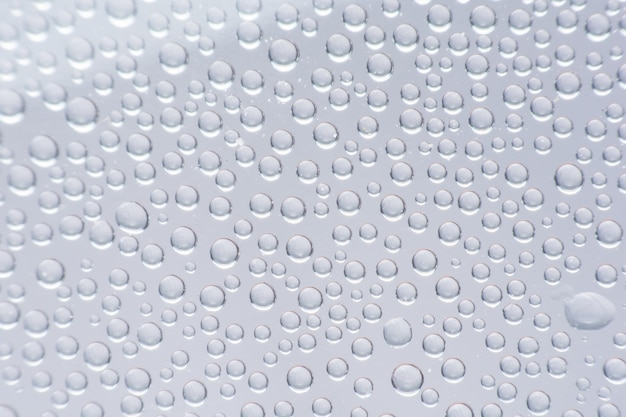 Close up water drop on plastic bottle