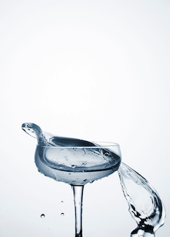 Макро динамика воды в стекле