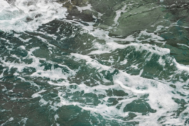 Close-up wavy sea water