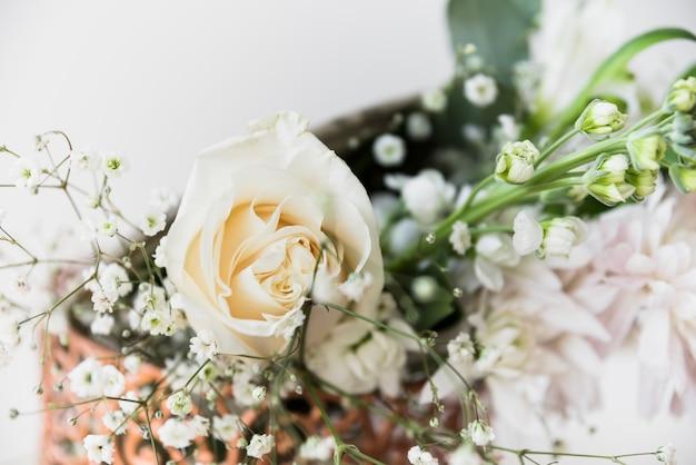 Close-up of wedding bouquet