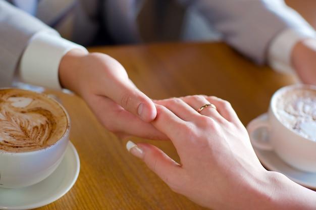 Close-up wedding rings