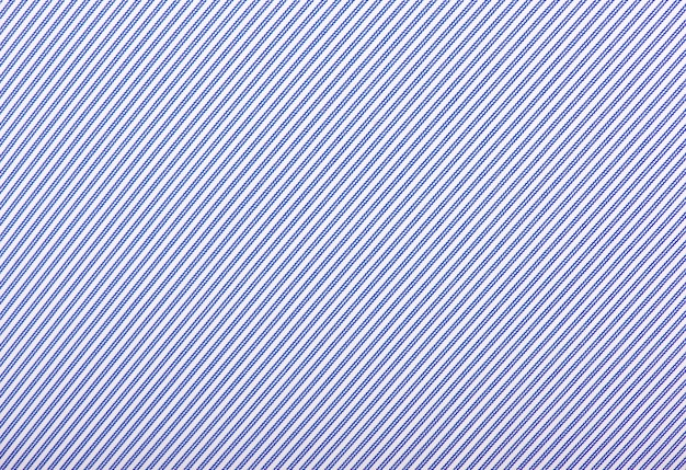 Close up of white and blue striped textile background.