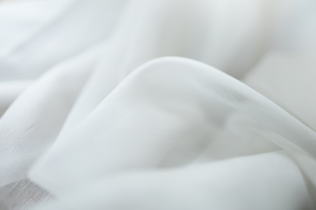 Close up of white linen cloth