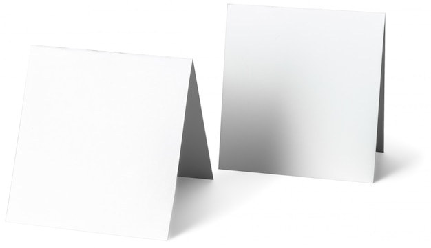 Close up of a white note paper on white background