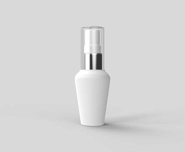 Крупным планом белые пластиковые бутылки 3d рендеринг реалистично