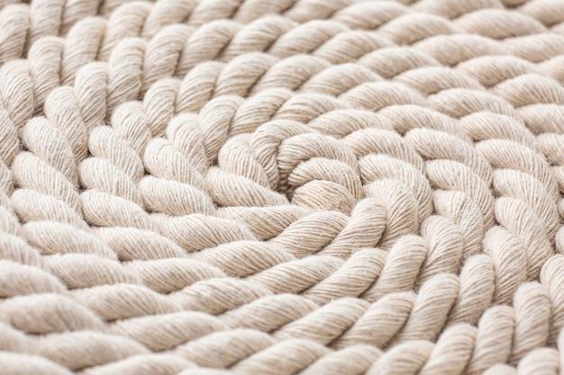 Primo piano della trama della corda bianca