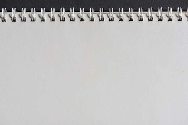 Close-up of white spiral notepad