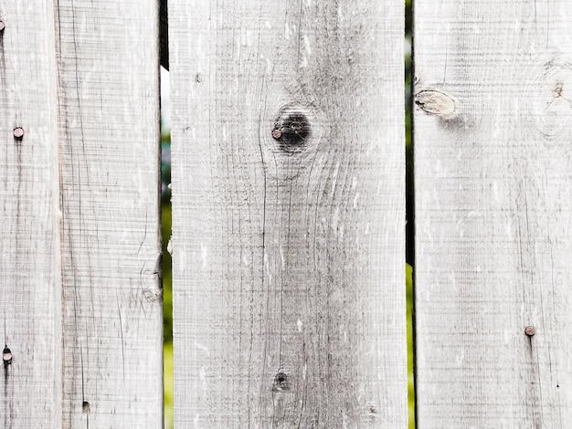 Close-up of white wooden fence textured