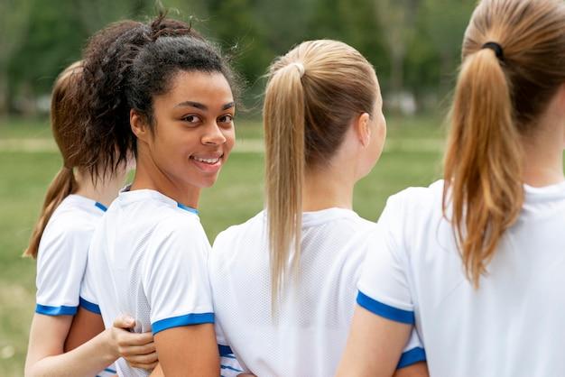 クローズアップ女子サッカーチーム
