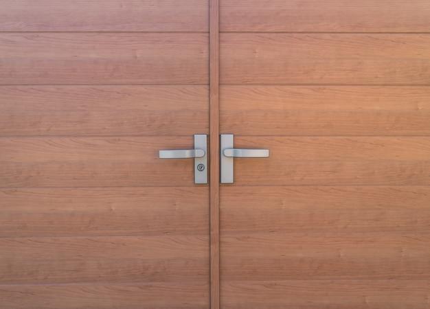 Primo piano di porta di legno.