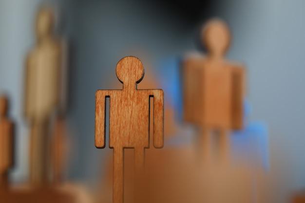 クローズアップ、木製マンフラット図、政治人形