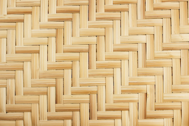 Close up of woven bamboo for background