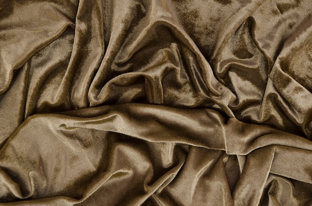 Close-up wrinkled fabric background