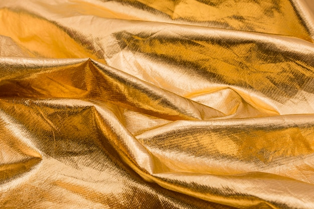 Макро морщинистый золотой материал