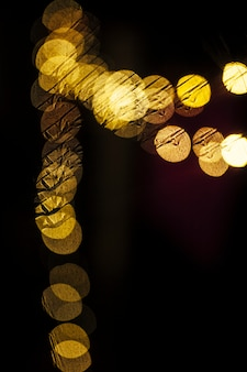 Close-up yellow garland lights