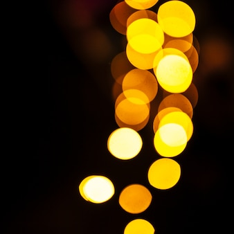 Close-up yellow lights