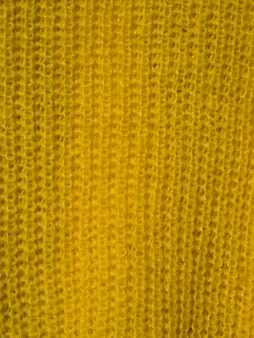 Close-up yellow scarf material