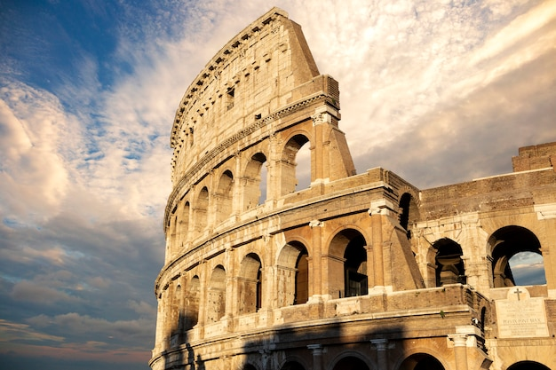 Close view of the colosseum from rome