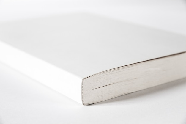 Closed blank book isolated