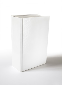 Closed blank dictionary, book cover