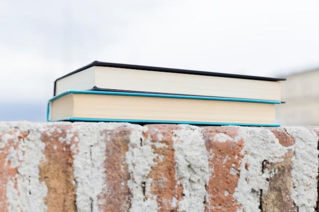 Closed books near the sea