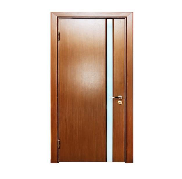 Закрытая дверь, изолированные на белом фоне
