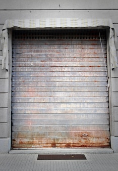 Closed garage door